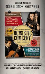 acoustic concert flyer poster u2014 photoshop psd band concert