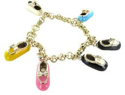 gold bracelet pendant images Yellow gold 14kt italy charm 6 baby shoe boot mary jane pj sock jpg