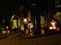 night decorate house for halloween mixed white indoor lighting