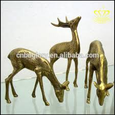 cheap garden ornaments size metal bronze brass animal deer