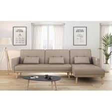 canapé d angle tissu beige usinestreet canapé d angle réversible et convertible 4 places
