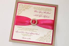 Pink Wedding Invitations Pink And Gold Wedding Invitations Plumegiant Com