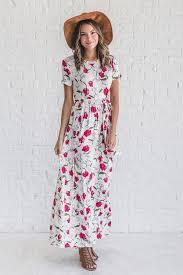 floral maxi dress fresh take white floral maxi dress ella boutique online store