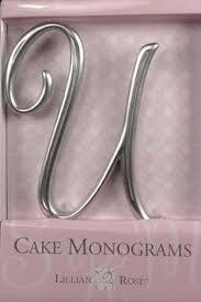 lillian cake topper u monogram wedding cake topper by lillian large gold