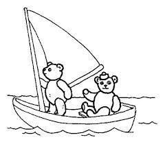 bears sailing boat colouring colouring tube