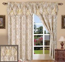 Long Drapery Panels Austrian Curtains Ebay