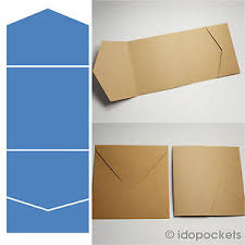 pocket envelopes 60 x kraft brown square vertical wedding invitation envelopes diy