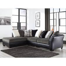 Ashley Furniture Leather Sectional Ashley Furniture Armant Sectional In Ebony Local Furniture Outlet