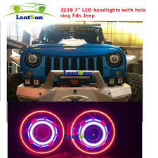 halo jeep wrangler pair sale nj238 7 inch 35w round led projector headlight with
