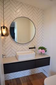 Mirrored Subway Tile Backsplash Bathroom Transitional With by Subway Tile Designs Inspiration A Beautiful Mess Tile Design