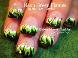 no water needed diy neon marble flames nail art tutorial youtube