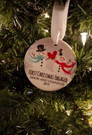 engagement christmas ornament personalized engagement gift