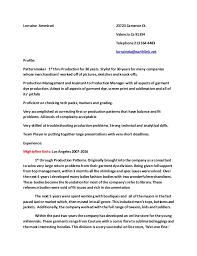 pattern maker resume lorraine ammirati resume