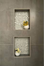 bathroom niche ideas shower calcutta marble tiled shower with window and built in