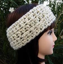 crochet hairband women s winter white headband crochet knit ear warmer aftcra