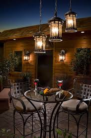 Patio Hanging Lights Contemporary Outdoor Lighting Patio Contemporary With Bronze