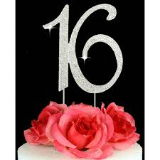 16 cake topper buy 16th birthday cake toppers number 16 bling cake topper