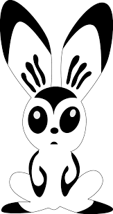 hare rones rabbit black white art coloring sheet colouring