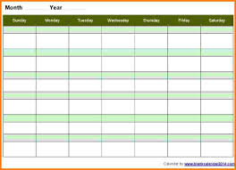 10 weekly calendar template word card authorization 2017