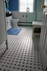 appealing black and white bathrooms tile octagon with black dotted