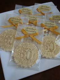 Edible Birthday Favors by 12 Vanilla White Chocolate Number 50 Fiftieth Fifty Birthday