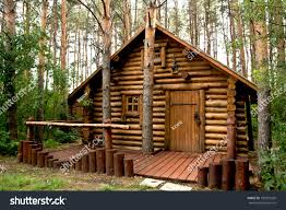 wooden house woods stock photo 109321202