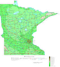 State Of Wisconsin Map by Minnesota Contour Map