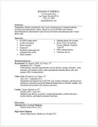 Typing Resume Receptionist Resume