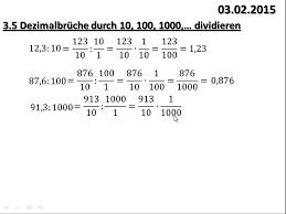 was sind dezimalbrüche 3 5 dezimalbrüche durch 10 100 1000 dividieren