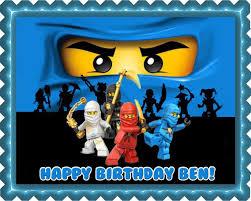ninjago cake toppers ninjago blue blue edible cake topper cupcake toppers