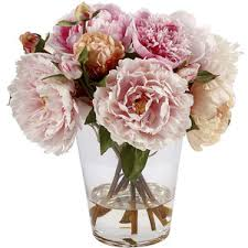 artificial peonies peonies glass vase 13 artificial arrangement decor ebay polyvore