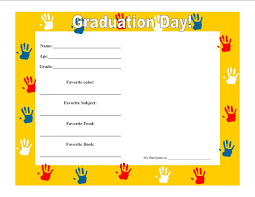 preschool graduation certificate template u2013 best u0026 professional
