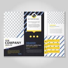 fold brochure template modern tri fold brochure template free vector