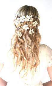 flower hair wedding hairstyles with flowers dipped in lace