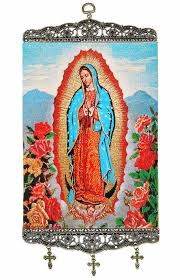 our of guadalupe rosary our of guadalupe textile tapestry icon banner large at