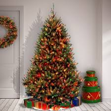 7 5 foot artificial tree multi colored lights