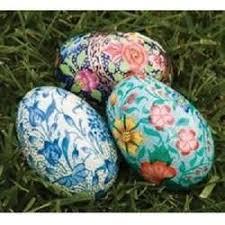 easter egg paper mache paper mache handicrafts exporter from srinagar