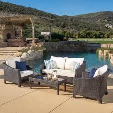 Patio Furniture Conversation Sets by Wicker Patio Conversation Sets You U0027ll Love Wayfair