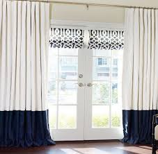 custom pleated drapery for french doors alluring window