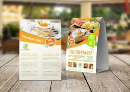 Table Tents Template Breakfast Restaurant Table Tent Template By Owpictures Graphicriver