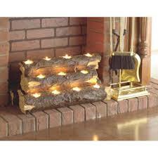 Fireplace Candle Holders by Southern Enterprise Burning Log Fireplace Candelabra Hayneedle