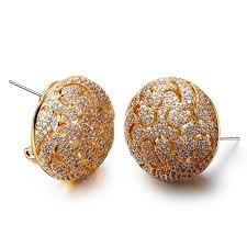 big stud earrings jewellery new stud earrings micro pave setting with