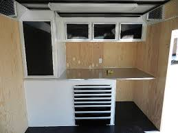 race car trailer cabinets carmate 8 5x22 enclosed car trailer cabinets with tool trays