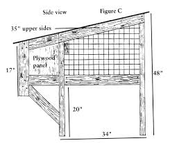 build your own rabbit hutch diagrams countryside mag