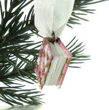 Christmas Book Ornaments - purple and gold christmas ornament a miniature book ornament