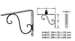 supporto mensola pesanti console acciaio antico supporto mensola staffa carichi