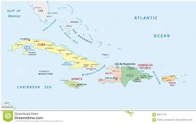 Grand Cayman Map Political And Administrative Map Of The Greater Antilles Stock