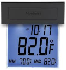amazon com la crosse technology 306 605 solar window outdoor amazon com la crosse technology 306 605 solar window outdoor thermometer with nighttime illumination and min max records with auto reset home kitchen