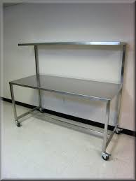 cheap stainless steel tables rdm stainless steel table with upper shelf model f103p ss