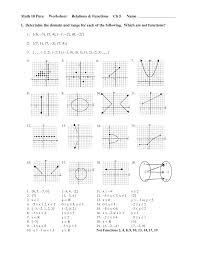 4th Grade Graphing Worksheets Domain And Range Worksheet Worksheets Reviewrevitol Free